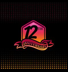 Twelve years anniversary celebration logotype vector