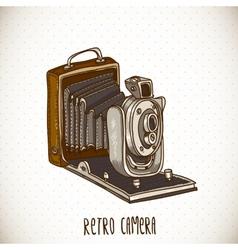 Vintage Card with Retro Camera vector