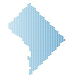 Washington dc map honeycomb mosaic vector