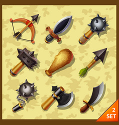 Weapon icons-set 2 vector