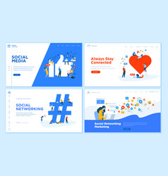 web page design templates collection vector image