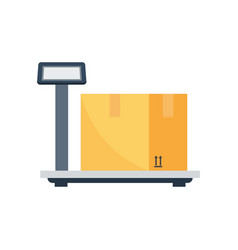 weighing delivery box icon vector image