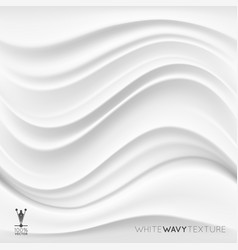 white creamy texture wavy background vector image