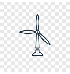 Wind mills concept linear icon isolated on vector
