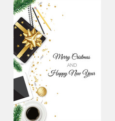 work place christmas card vector image