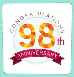 Colorful polygonal anniversary logo 3 098 vector