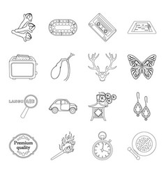 cosmetics travel cooking and other web icon in vector image