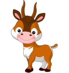 Fun zoo Antelope vector image vector image