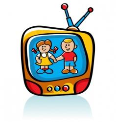 kids on tv vector image vector image