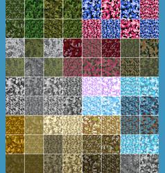 Pixel camo seamless pattern big set green forest vector