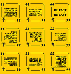 Set of motivational quotes about serving vector image vector image