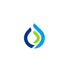 water drop line ecology logo vector image vector image