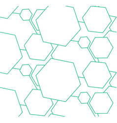 Abstract patter geometry green vector