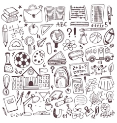 Hand drawn sketch elements set vector image vector image