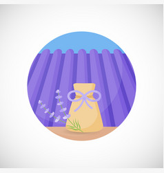 lavender herbal sachet flat icon vector image vector image