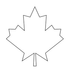 Maple leaf the black color icon vector