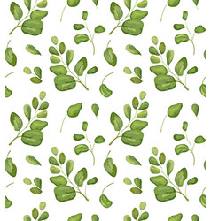 seamless greenery patten background floral vector image vector image