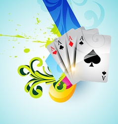 set of casino playing cards vector image vector image