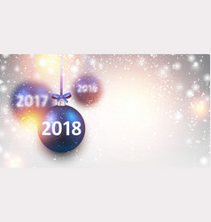shining 2018 new year background vector image vector image