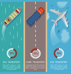 transportation top view infographics vector image vector image