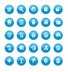 web icons blue gloss vector image vector image