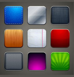 Backgrounds for apps icons vector image vector image