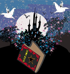 Black Magic Book vector image