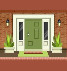 front entrance door vector image