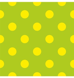 Seamless spring pattern with yellow polka dots vector image vector image