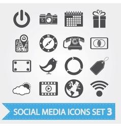 Social media icons set 3 vector image