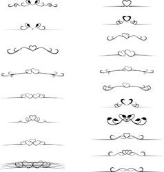 Vintage decorative text dividers set vector image