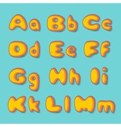 abc bold retro vector image vector image
