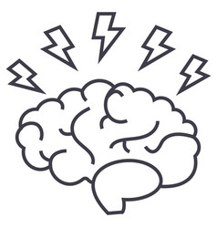 brainstorm line icon sign on vector image vector image