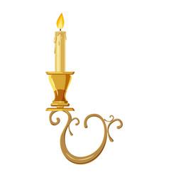candelabrum icon cartoon style vector image