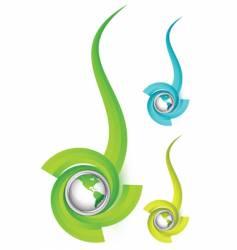 world logo vector image vector image
