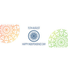 15th of august independence day banner vector image