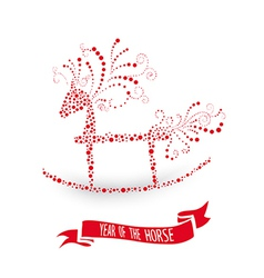2014 Chinese New Year of the Horse vector image