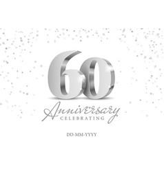 60 years anniversary celebration vector