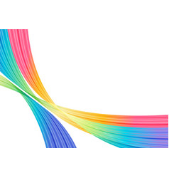 Abstract colorful striped elements on white vector