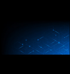 Abstract geometric blue lines on dark blue vector