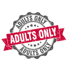 adults only stamp sign seal vector image