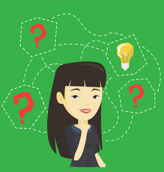 asian businesswoman having business idea vector image