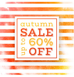 autumn sale up to 60 percents off banner vector image