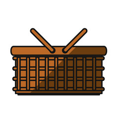 Basket shopping isolated vector