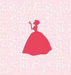 Beautiful princess standing in dress vector