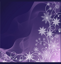 beautiful winter pattern made of snowflakes on vector image