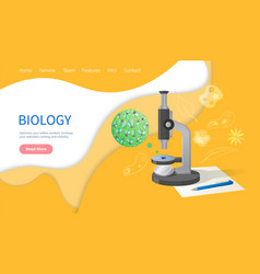 Biology discipline education in school subject vector
