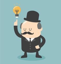 Business big boss get an idea vector