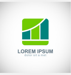 business finance progress logo vector image