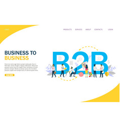 business to business website landing page vector image